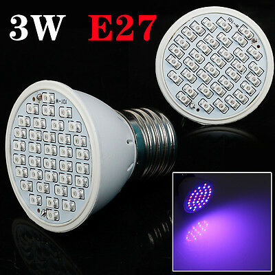 E27 60LEDS Hydroponic Gardening Supplies Indoor Veg Flower Plant Grow Lights