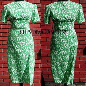 NEW-ASOS-Floral-Printed-Midi-Dress-Size-UK-8-18-Length-46-48-034