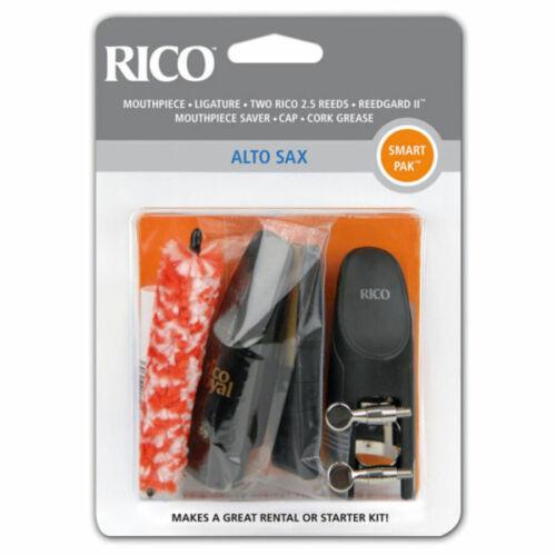 Rico Smart Pak for Alto Sax Eb Saxophone Mouthpiece Reeds RSMPAKASX SmartPak