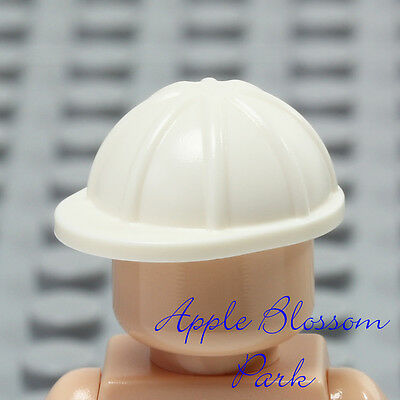 NEW Lego City Minifig WHITE HARD HAT Construction Worker Cap Head Helmet Gear