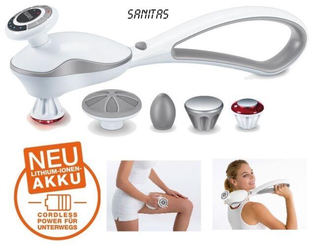 SANITAS SMG 505 Akku Klopfmassagegerät TO GO Massage 4 Aufsätze Massagegerät Neu