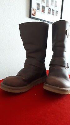 Da. Boots UGG Gr.37 Leder Lammfell braun | eBay