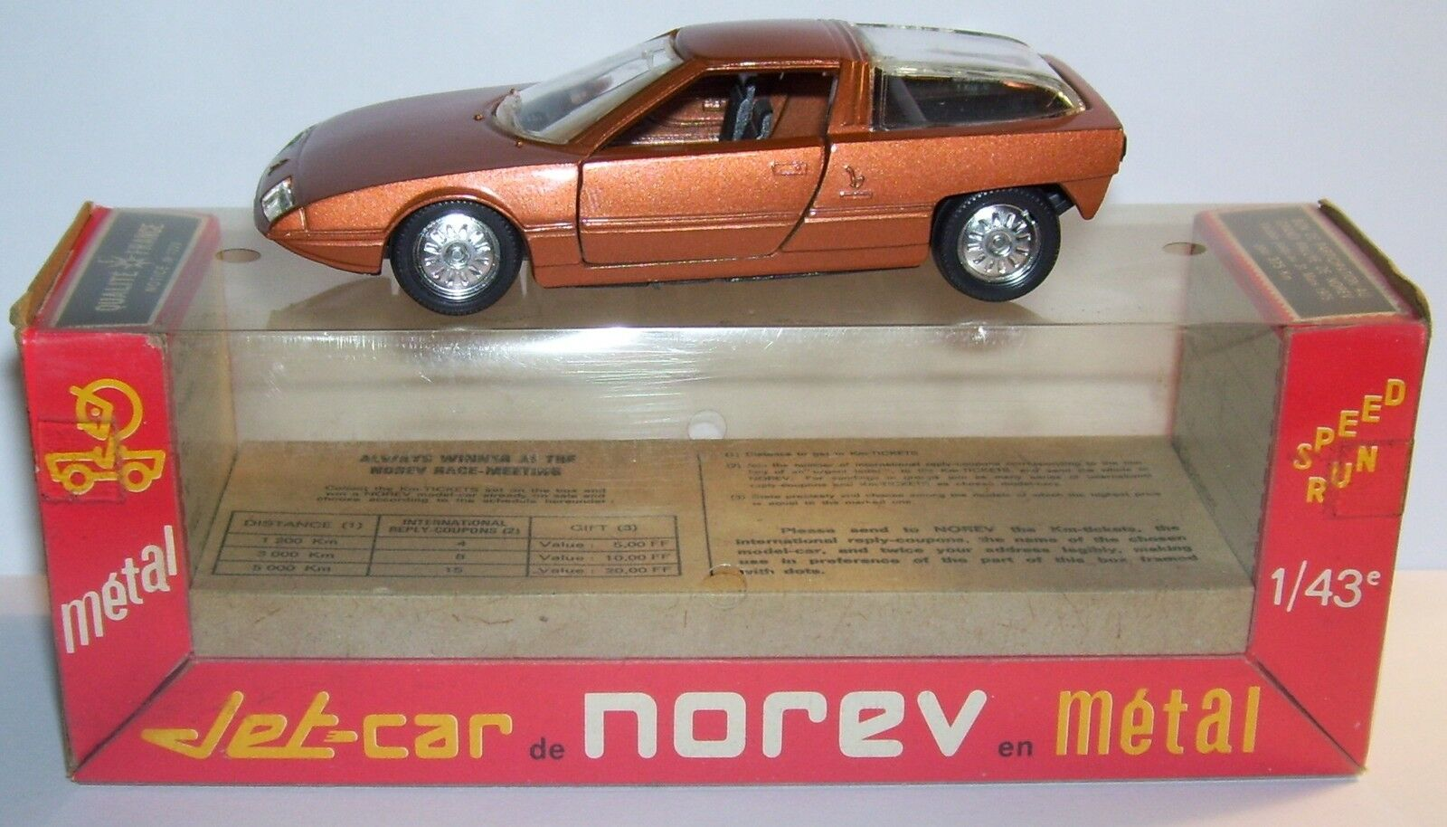 Norev jet car metal made france citroen gs camargue bertone 1972 coupe ref 714a