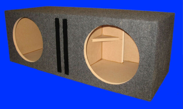 "2 HOLE DUAL 12"" ALPINE TYPE R PORTED GREY SUBWOOFER SUB ENCLOSURE BOX"