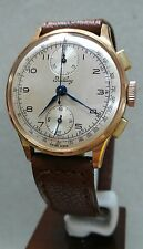1940s Breitling Chronograph 18K Rose Gold Watch - cal Venus 170 - ref 178 - MINT