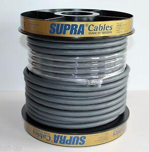 Supra Cables LoRad 2.5 Silver Anniversary Edition Netzkabel Meterware