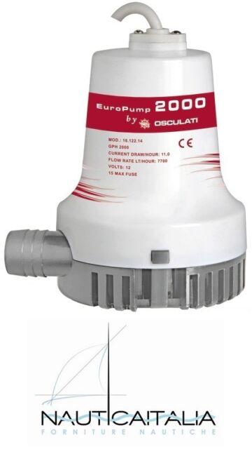 POMPA DI SENTINA EUROPUMP II 2000 128 LITRI/MIN 12V - POMPA DI SENTINA OSCULATI