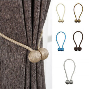 New-Ball-Magnetic-Curtain-Buckle-Holder-Tieback-Clips-Home-Window-Accessories-DE