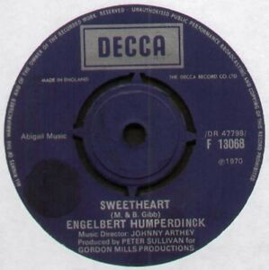 BEE-GEES-ENGELBERT-HUMPERDINCK-SWEETHEART-1970-UK-7-034-SINGLE-DECCA-F13068