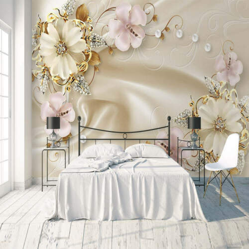 White Pearl Sand 3D Full Wall Mural Photo Wallpaper Printing Home Kids Decor