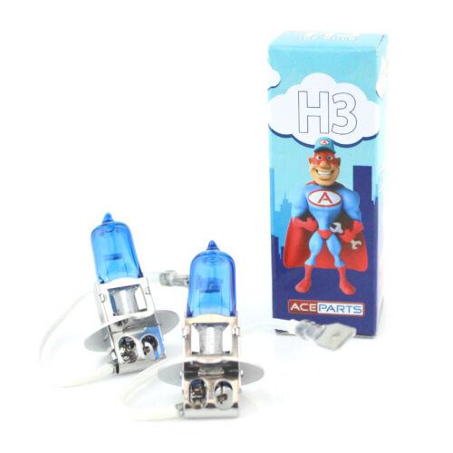 Vauxhall Astra MK5//H H3 55w Azul Hielo Xenon HID Bombillas De Luz Antiniebla Delantera Par