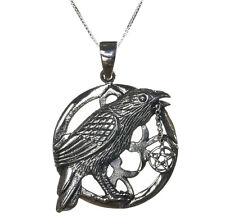 Sterling Silver 925 Talisman Raven Pentagram Star Pendant Necklace Lisa Parker