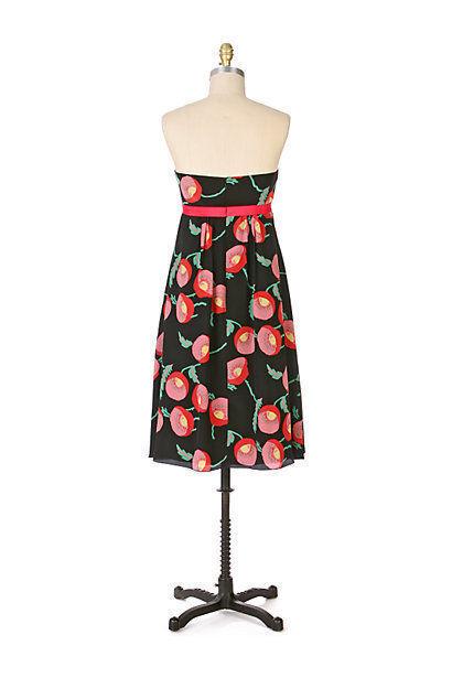 6 Anthropologie Anna Sui Poppies  Papaver Dress Dress Dress  Size ca52e2