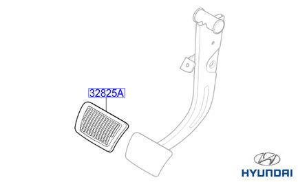 Genuine Hyundai IX35 Automatic Pedal Pad Rubber 328252K500