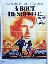 """""""A BOUT DE SOUFFLE (BREATHLESS)"""" Affiche originale Richard GERE,Valérie KAPRISKY"""