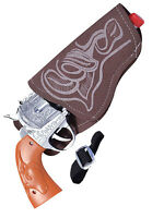 Adult Western Cowboy Fancy Dress Cop Sheriff Wild West Toy Gun + Holster Indian