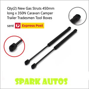 Qty-2-Gas-Struts-450mm-long-x-350N-Caravan-Camper-Trailer-Tradesmen-Tool-Boxes