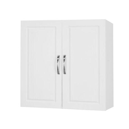 SoBuy® Kitchen Bathroom Wall Storage Cabinet Unit with Doors,White,FRG231-W,UK