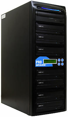 ProDuplicator 1-7 24X MDisc CD DVD Duplicator Copier Burner Standalone Writer