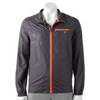 New Fila Sport Golf Men's Performance Active Windbreaker Jacket Gray MSRP $60