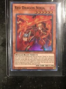 Yugioh-Red-Dragon-Ninja-SHVA-EN025-Super-Rare-1st-Edition-Near-Mint-Engl