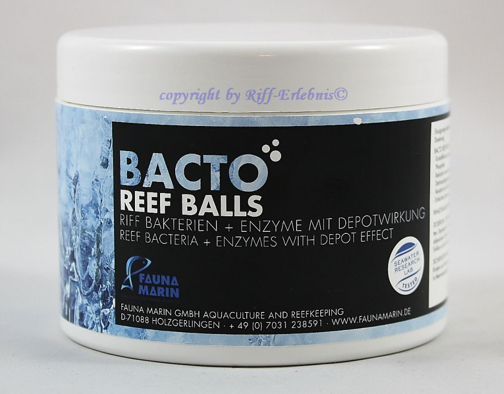 Bacto Reef BALLS 16.9oz Fauna Marin Riff Bacteria + Enzyme with Depot   L