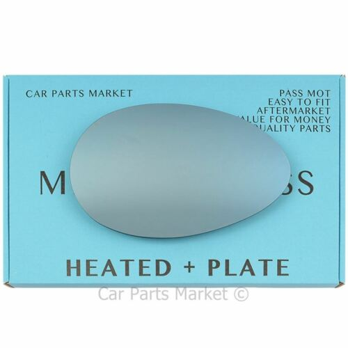 plate Right side blue Flat Wing door mirror glass for Alfa Romeo 156 heated