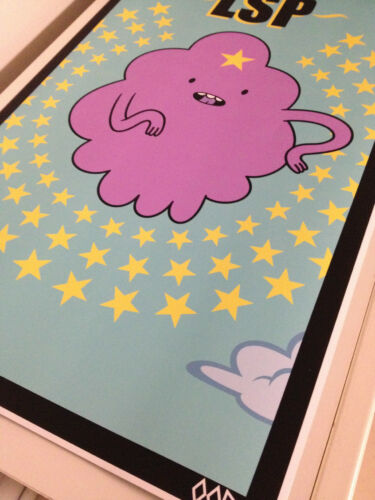 "ADVENTURE TIME Lumpy Space Princess 24/"" x 36/"" poster print"