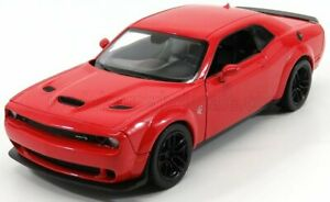 MOTOR-MAX 1/24 DODGE   CHALLENGER HELLCAT SRT COUPE 2018   RED