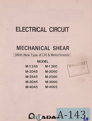 Shear Electrical /& Hydraulic Circuits and Parts Lists Manual 1980 Amada H Type