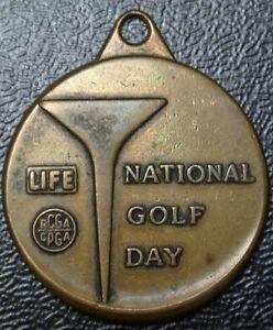1955 LIFE NATIONAL GOLD DAY (RCGA CPGA) MEDAL - U.S. Open Champion Ed Furgol
