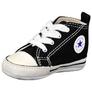 e47f9dfdb68139 CONVERSE NEWBORN CRIB BOOTIES BLACK 8J231 FIRST ALL STAR BABY SHOES ...