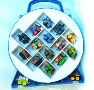16-Piece-Thomas-the-Train-and-Friends-Minis-Train-Lot-with-Carrying-Case