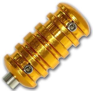 Aluminium Tattoo Grip 21 mm *VERSION 3* GOLD mit Endrohr Tätowier Griffstück