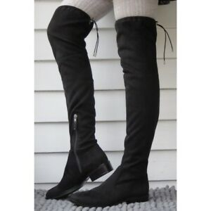 7dabc436b943 NEW Sam Edelman Paloma Over the Knee Boot Black Suede Women s Size 5 ...