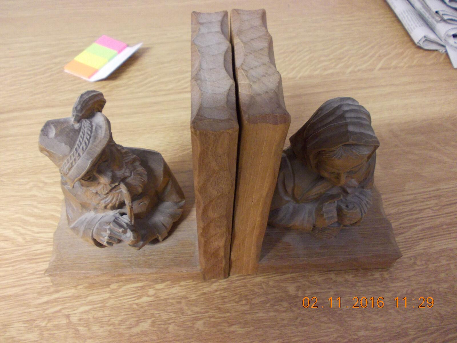 Buchstützen  handgemacht vom Künstler Künstler Künstler Conrad MGoldder Südtirol   Mama kaufte ein bequemes, Baby ist glücklich  7534ff