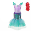 Mermaid Cosplay Costume for Girls Party Clothing Kids Halloween Princess Dress