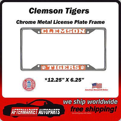 FANMATS  14850  NCAA Clemson University Tigers Chrome License Plate Frame
