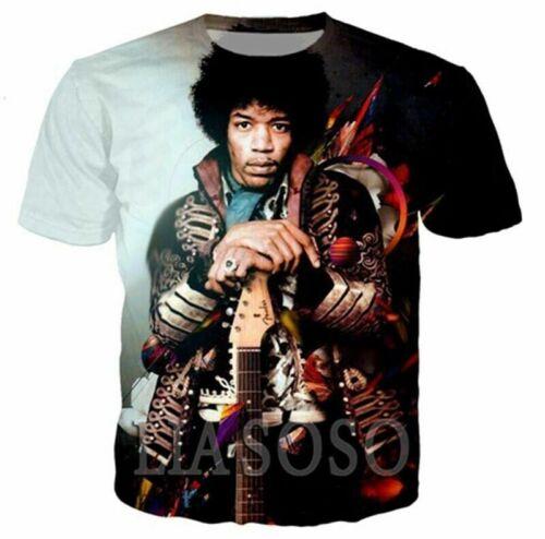 Fashion 3D Print Guitar Performer Jimi Hendrix Women Men T Shirt Short Tee
