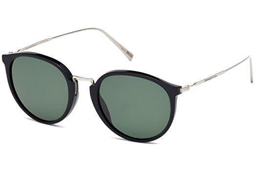 7f755ea80d4 Ermenegildo Zegna Polarized Vintage-round Sunglasses Ez0048 01r for sale  online