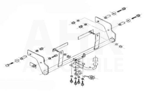 Kpl AHK Renault Kangoo I 4x4 KC 01-08 Anhängerkupplung starr+ES 7p uni