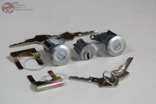 66-68 Mopar A B Body Dodge Plymouth Igniton Door Lock Cylinder Set OEM Keys