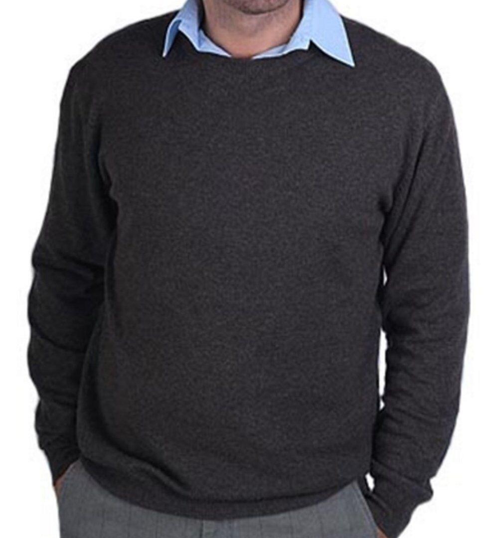 Balldiri 100% Cashmere Rundhals Herren Pullover Rundhals Cashmere braun  meliert XXXL 6deaeb d9dce5c957