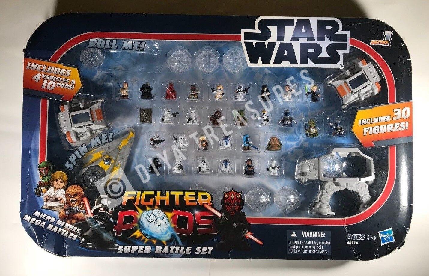 Star Pods Wars Fighter Pods Star Super Big Battle Set 30 Figures 10 Pods & 4 Vehicles c18623