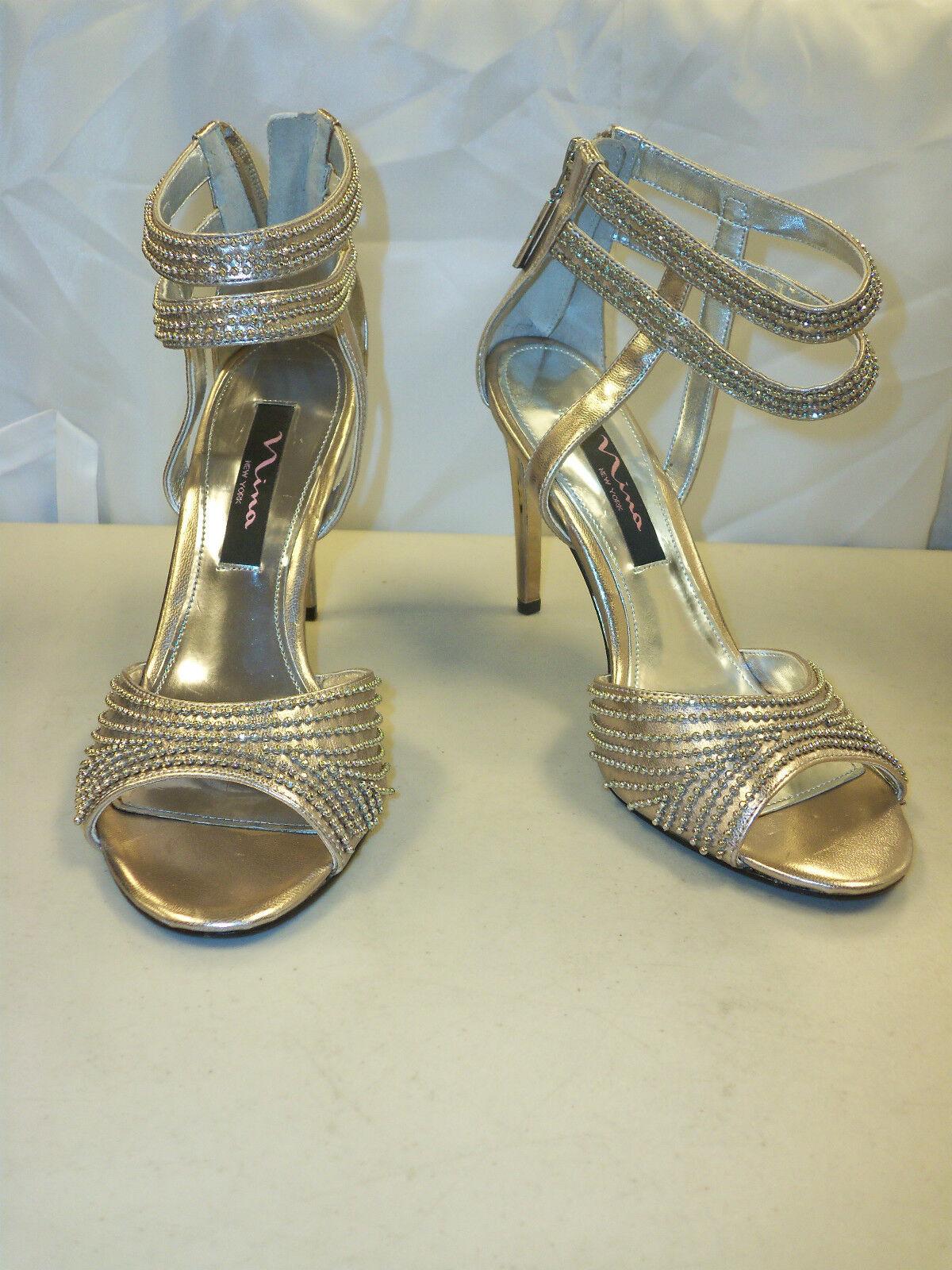 Nina New Store  Display donna Cannes Light oro Heels 7 M scarpe  vendita online
