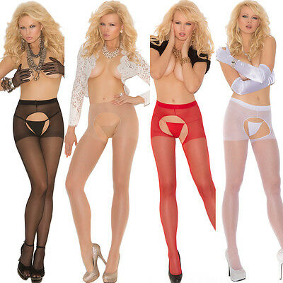 Plus Size Lingerie Black Nude,Red or White Size Queen Sheer Pantyhose EM1726Q