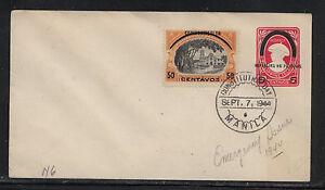 Philippines uprated postal envelope Japan occupation 1944 MS0722