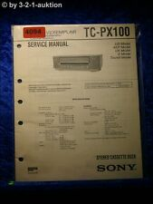 Sony Service Manual TC PX100 Cassette Deck (#4094)