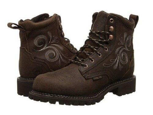 JUSTIN Women's Gypsy Western Katerina Waterproof Steel Toe Boots WKL985 NIB Size