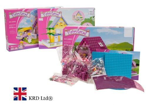 Kids FAIRYLAND BUILDING BLOCKS SET Model Castle Kit Toy Christmas Gift Box LARGE